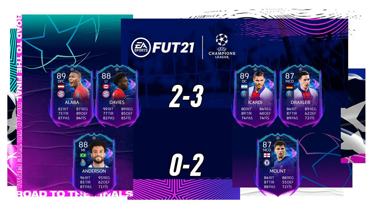 FIFA 21 Ultimate Team RTTF Champions League Europa League Ida Cuartos de Final