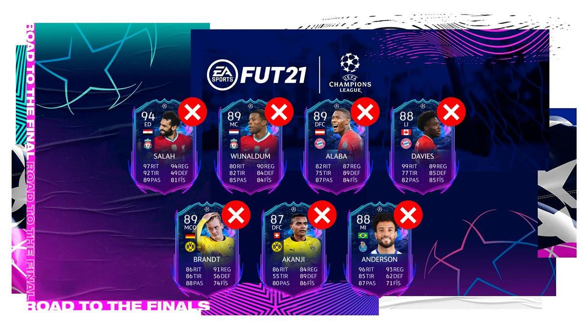 FIFA 21 Ultimate Team RTTF Showdown Cuartos de Final Champions League Europa League