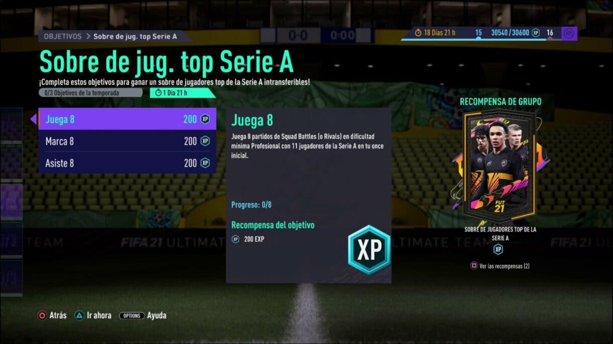 FIFA 21 Ultimate Team TOTS en Free League One con goles