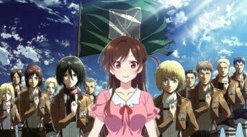 Imagen de El autor de Rent-a-Girlfriend convierte a Chizuru en un personaje de Shingeki no Kyojin