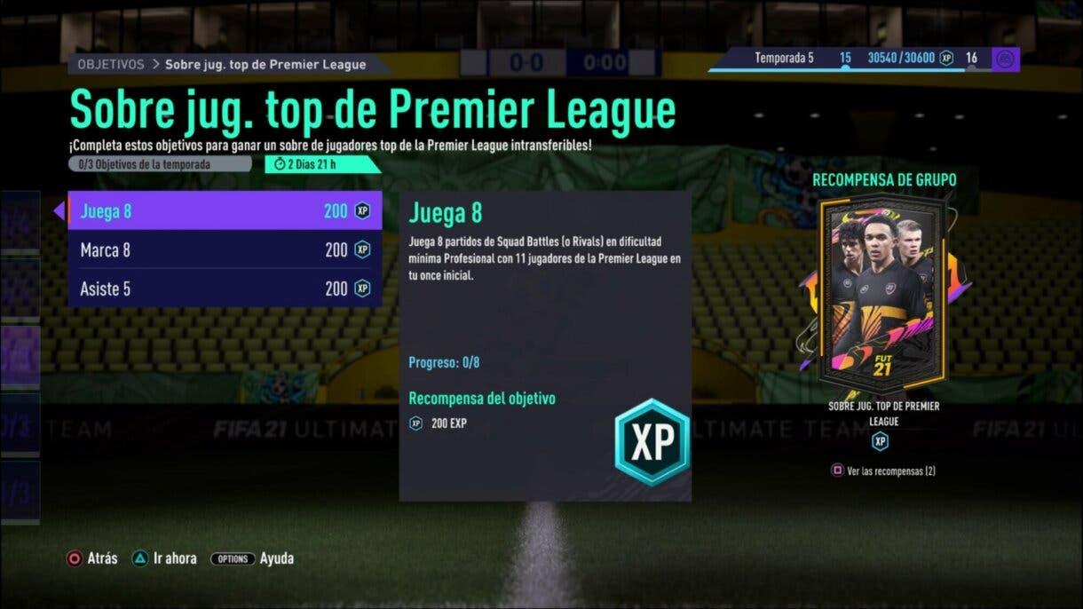 FIFA 21 Ultimate Team sobre gratuito para TOTS de la Premier League