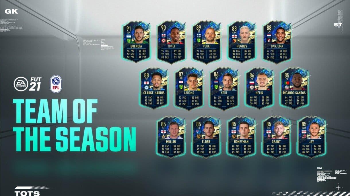 FIFA 21 Ultimate Team TOTS de la EFL