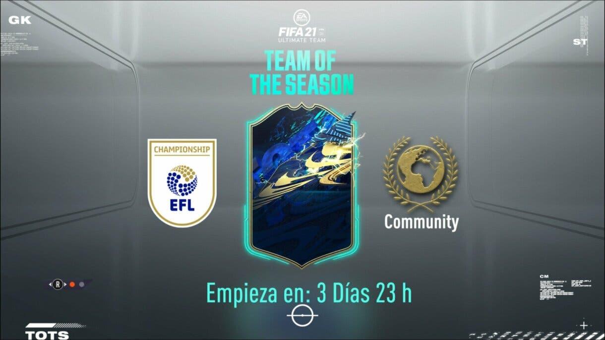 FIFA 21 Ultimate Team TOTS confirmados los primeros Equipos de la Temporada EFL y Comunidad