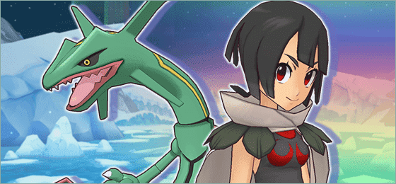 Tristana y Rayquaza Pokemon Masters EX