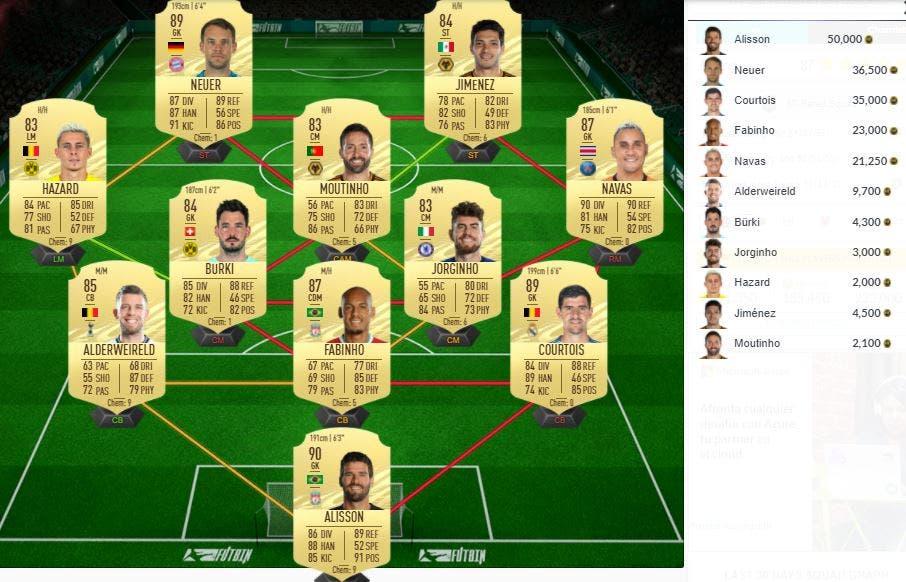 FIFA 21 Ultimate Team SBC Centrocampista Icono