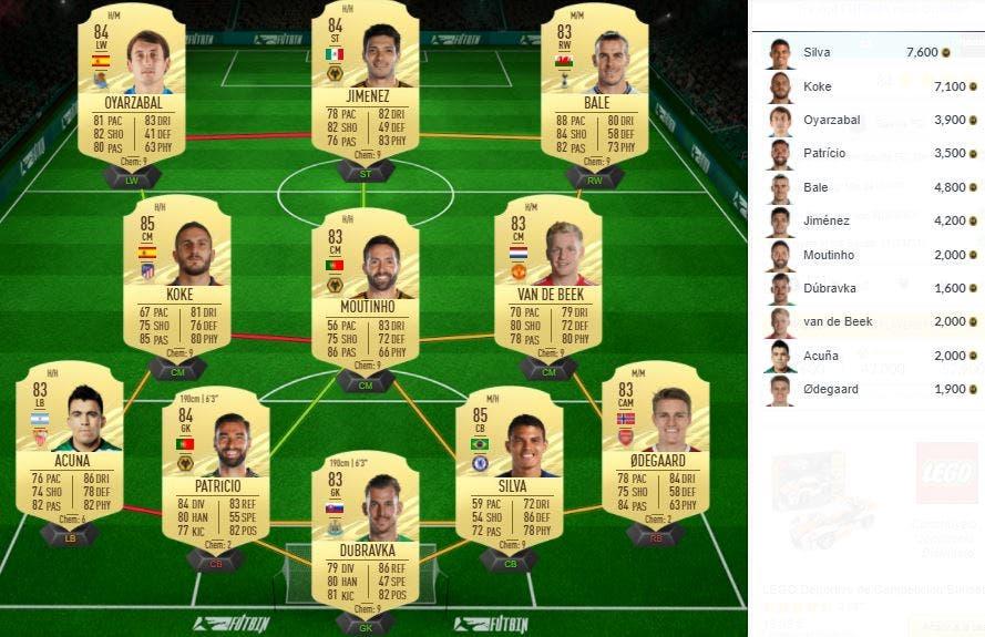 FIFA 21 Ultimate Team SBC de Jong Showdown