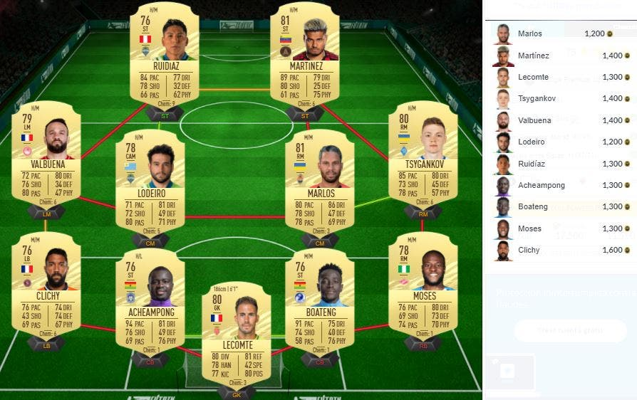 FIFA 21 Ultimate Team SBC Mejoras LaLiga Santander