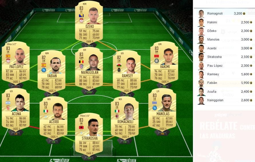 FIFA 21 Ultimate Team SBC Hernández TOTS Moments