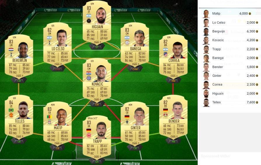 FIFA 21 Ultimate Team SBC Lazaro TOTS Moments