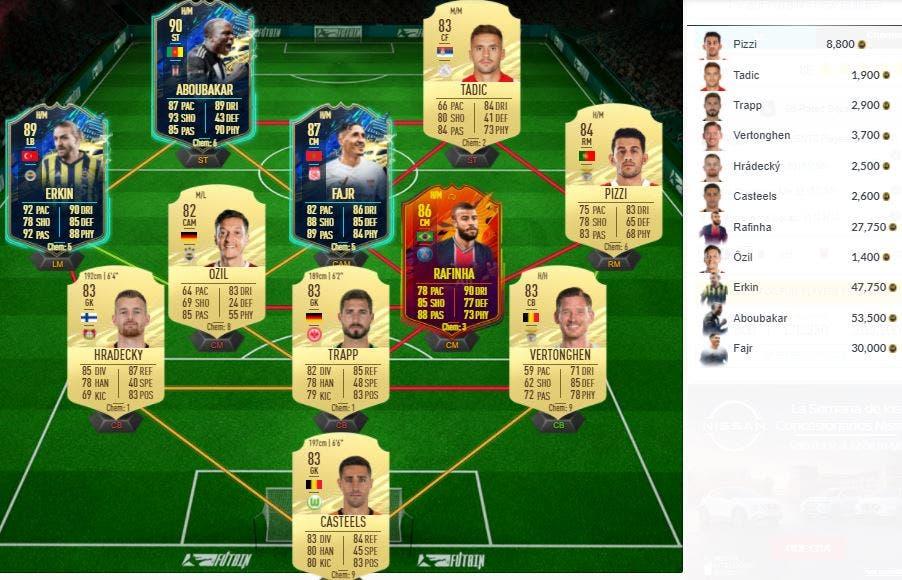 FIFA 21 Ultimate Team SBC Mejora Icono