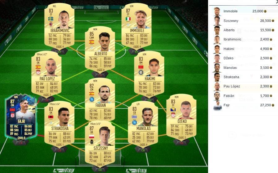 FIFA 21 Ultimate Team SBC Wamangituka TOTS