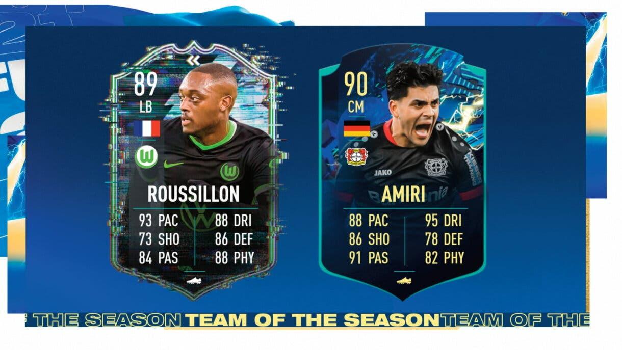 FIFA 21: este es el TOTS de la Bundesliga +  Roussillon Flashback y Amiri TOTS Moments gratuitos (medias y stats incluidas) Ultimate Team Medias y stats versiones free to play