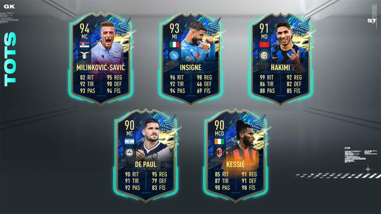 FIFA 21 Ultimate Team Predicción TOTS Serie A centrocampistas