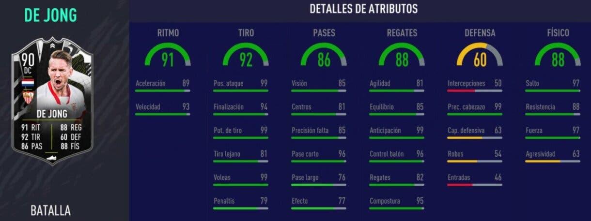 FIFA 21 Ultimate Team. Stats in game de Luuk de Jong Showdown.