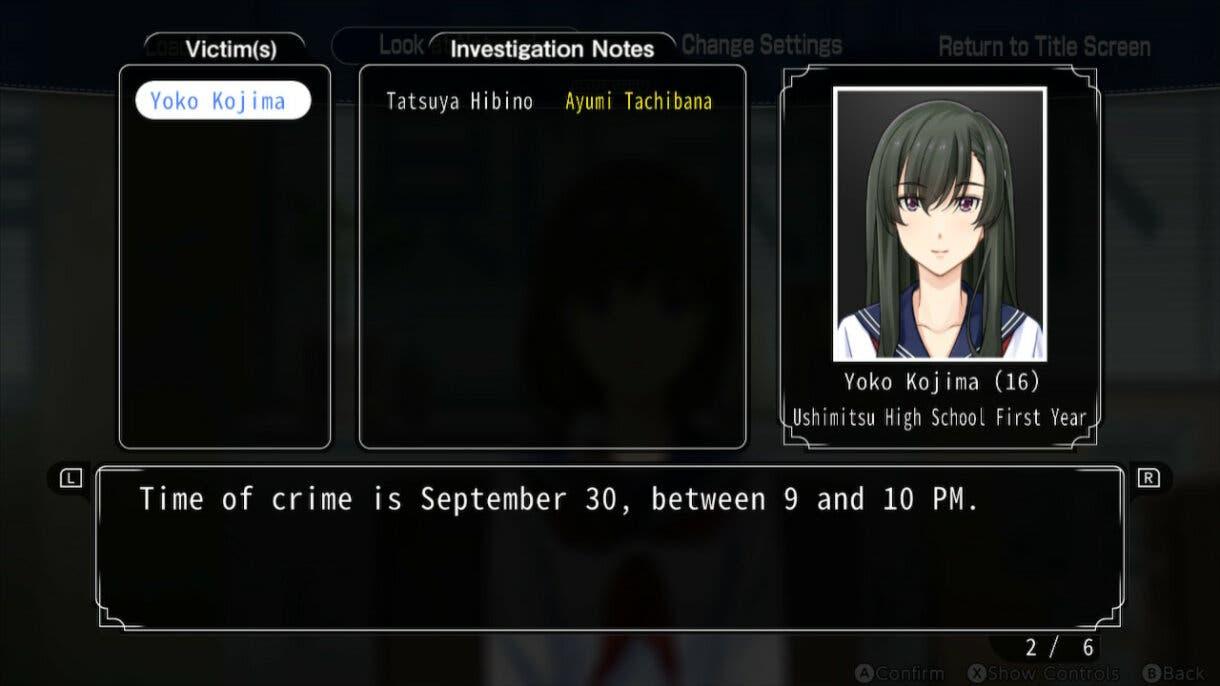 Famicom Detective Club libreta