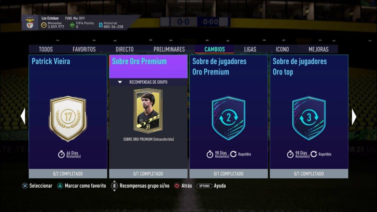 FIFA 21 Ultimate Team llega la segunda tanda FGS consigue sobres gratuitos intransferibles
