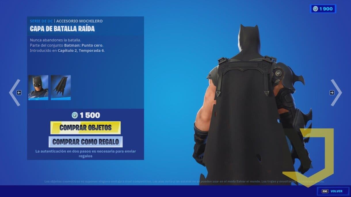 fortnite batman skin 1 y medio