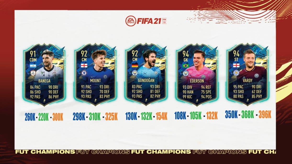 FIFA 21 Ultimate Team : ¿Qué TOTS de la Premier League y Liga Saudí elijo en las recompensas de FUT Champions? Nivel 3