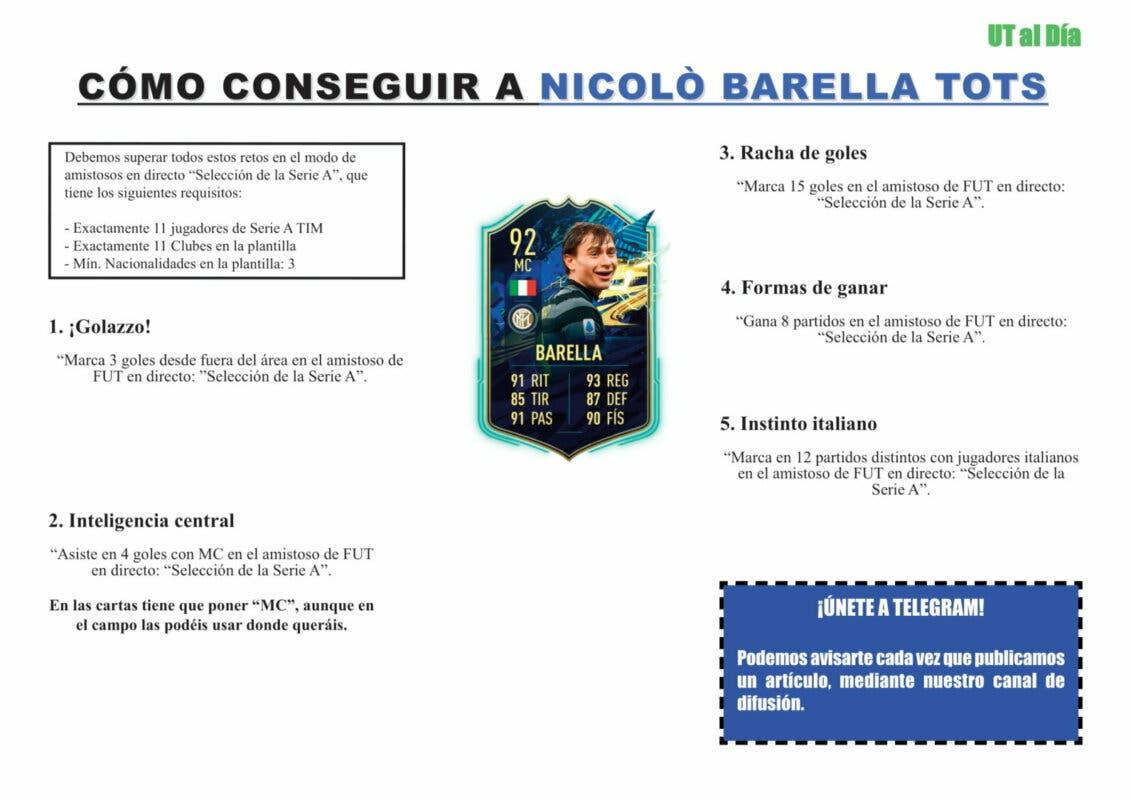 FIFA 21 Ultimate Team Guía Barella TOTS
