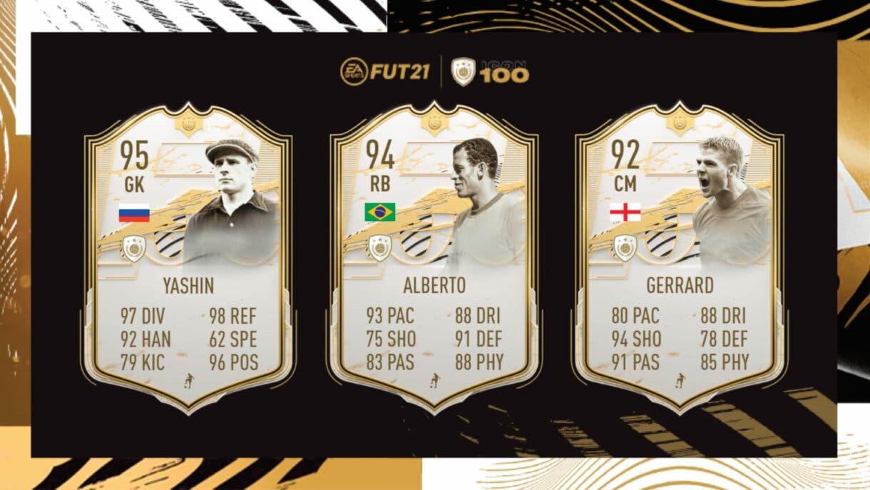 FIFA 21 Ultimate Team Iconos disponibles en SBC Carlos Alberto, Lev Yashin y Steven Gerrard Moments