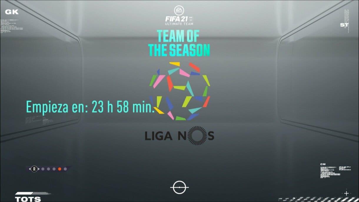 FIFA 21 Ultimate Team pantalla de carga Liga NOS confirmado nuevo TOTS Equipo de la Temporada