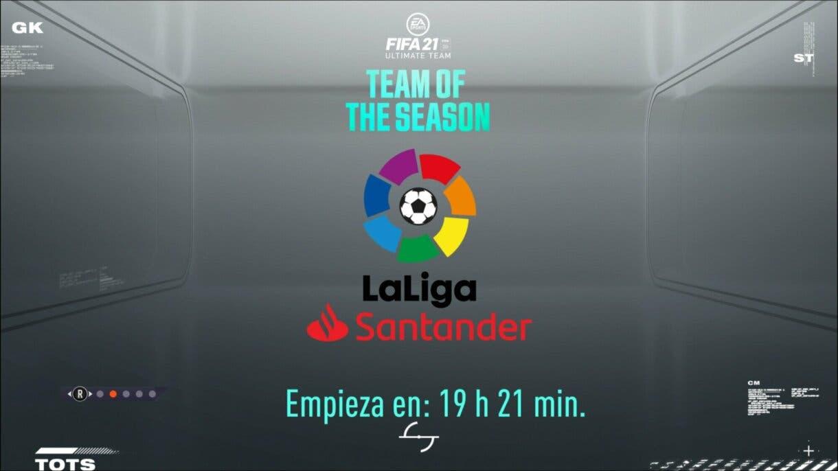 FIFA 21: la pantalla de carga de Ultimate Team confirma la llegada del TOTS de la Liga Santander cuenta atrás.