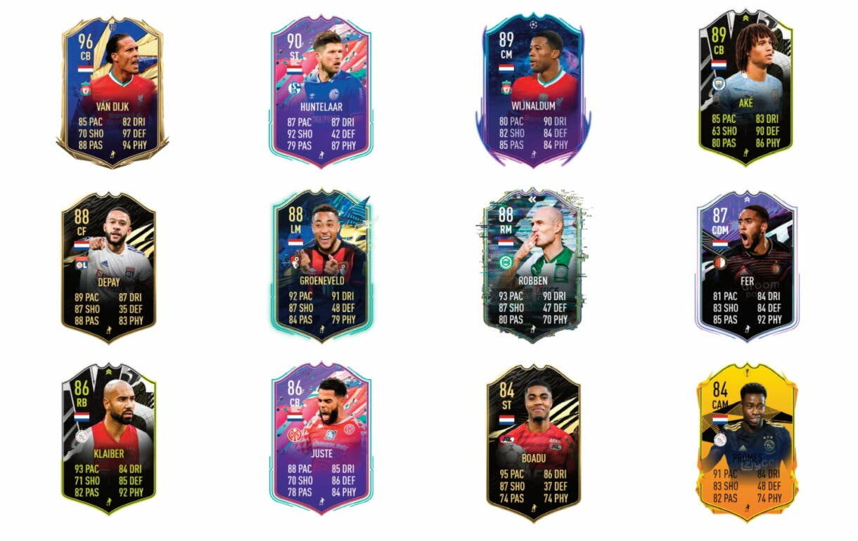 FIFA 21 Ultimate Team Luuk de Jong Showdown links naranjas