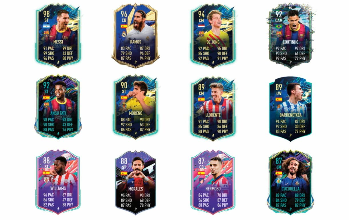 Links verdes de Jordi Alba TOTS. FIFA 21 Ultimate Team