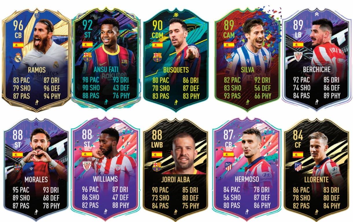 Links naranjas de Marcos Alonso Showdown. FIFA 21 Ultimate Team