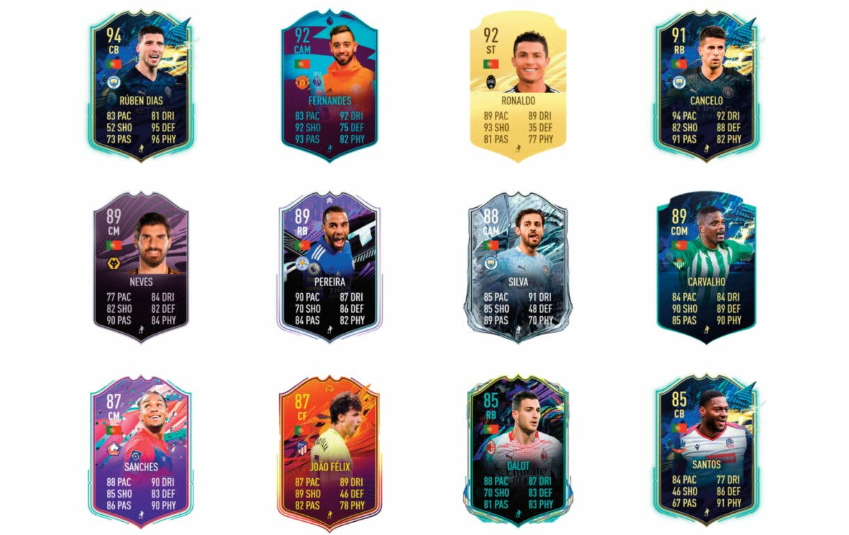 Links naranjas de Pepe TOTS. FIFA 21 Ultimate Team