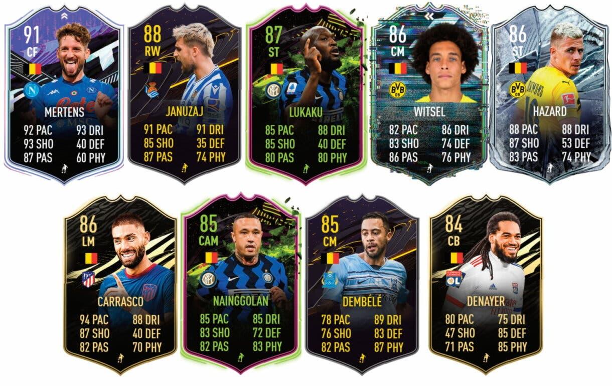 Links naranjas de Tielemans TOTS. FIFA 21 Ultimate Team