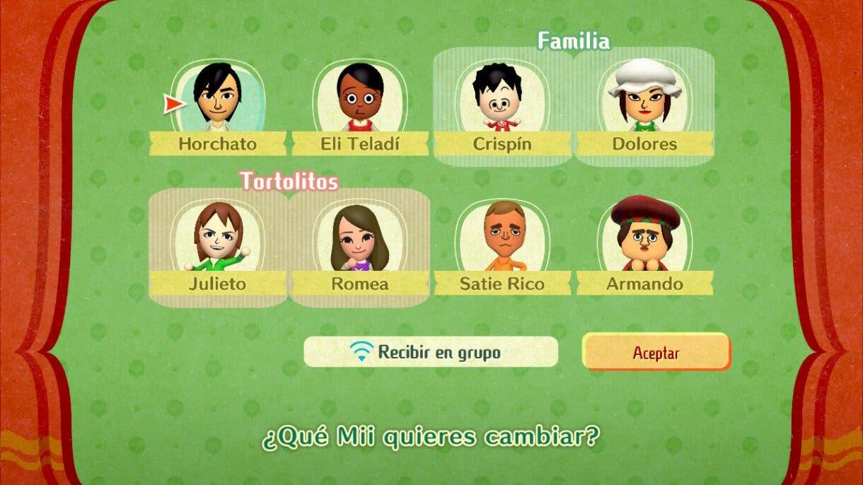 Miitopia personajes pueblo