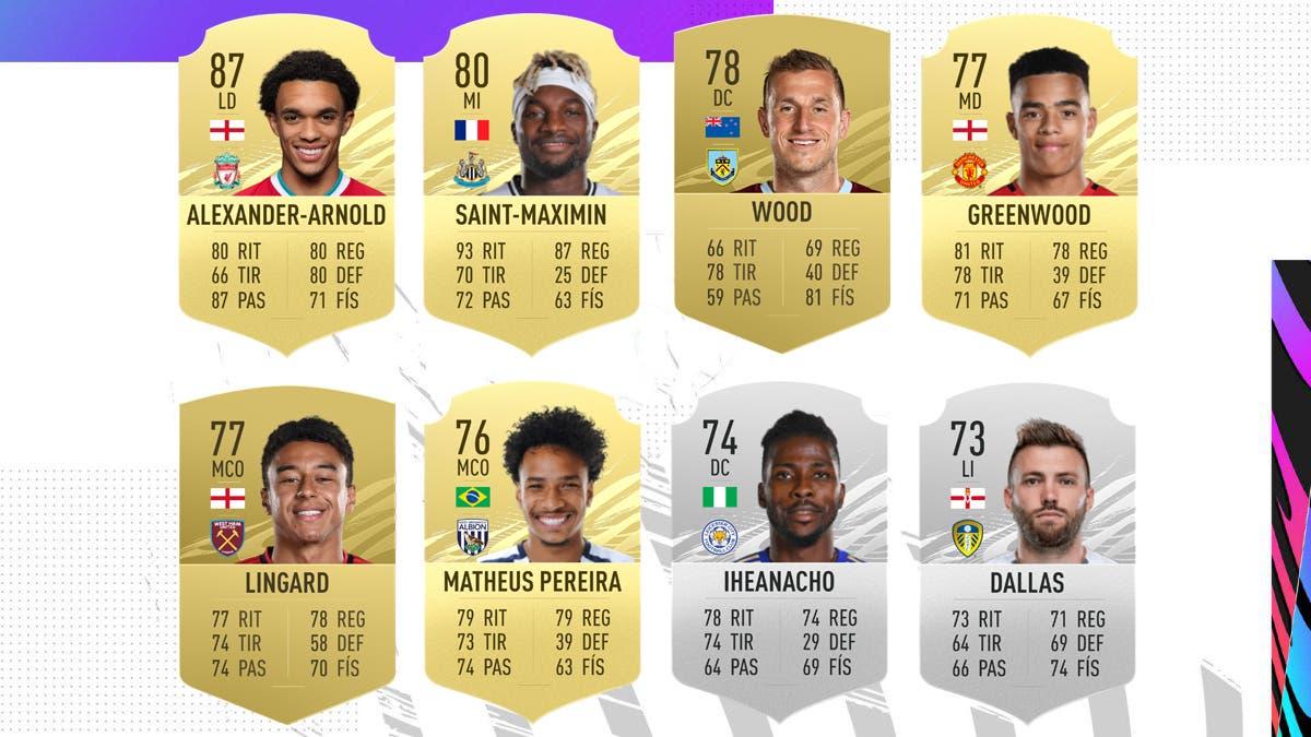 FIFA 21 Ultimate Team Nominados POTM Premier League Abril