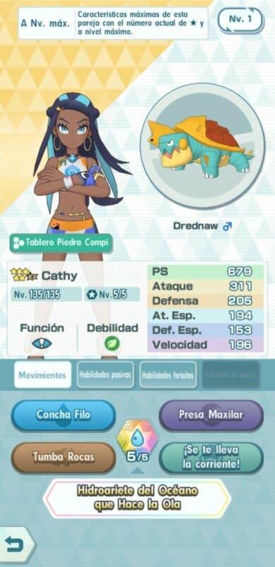 Pokemon Masters EX Cathy Drednaw info