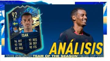 Imagen de FIFA 21: análisis de Isak TOTS gratuito. ¿Un delantero top para la Liga Santander?