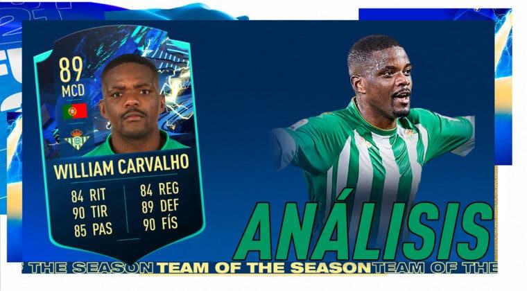 Imagen de FIFA 21: análisis de William Carvalho TOTS Moments gratuito. ¿El mejor MCD de la Liga Santander?
