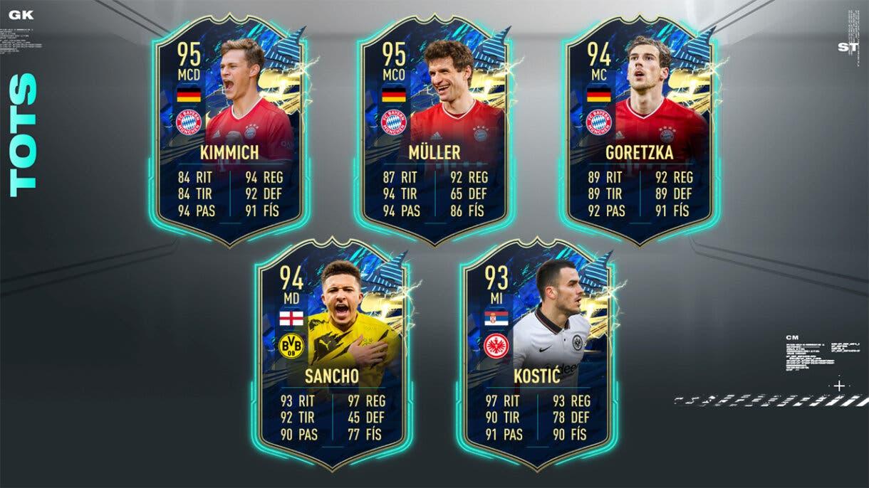 FIFA 21 Ultimate Team Predicción TOTS Bundesliga Centrocampistas