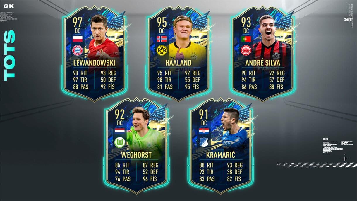 FIFA 21 Ultimate Team Predicción TOTS Bundesliga Delanteros