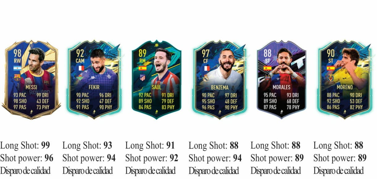 FIFA 21 Icon Swaps: los mejores jugadores de la Liga Santander para marcar desde fuera del área Ultimate Team 3