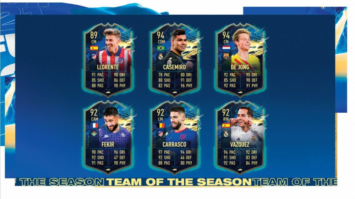 FIFA 21 Ultimate Team Equipo de la Temporada Liga Santander TOTS centrocampistas