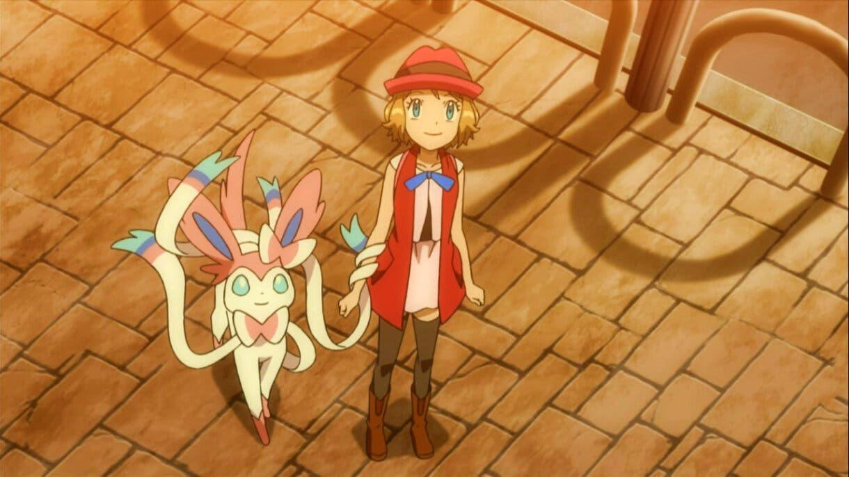 Serena y Sylveon anime Pokemon