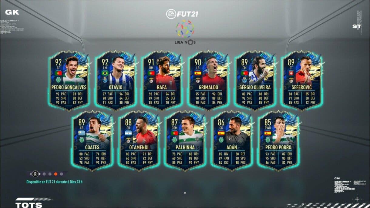Cartas transferibles del TOTS de la Liga NOS. FIFA 21 Ultimate Team