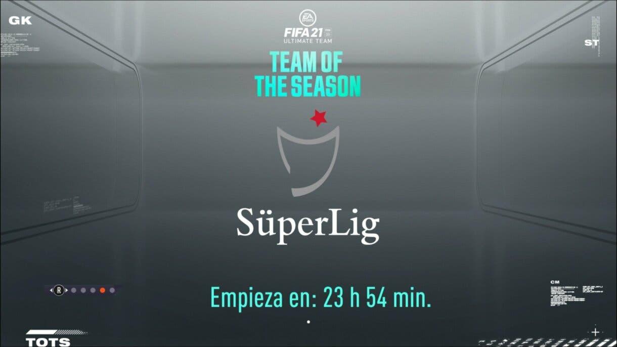 FIFA 21 Ultimate Team pantalla de carga Superliga de Turquía próximo TOTS