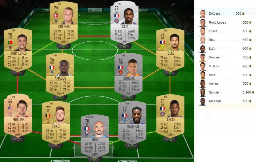 FIFA 21 Ultimate Team SBC Mejora 82+ x8 FOF