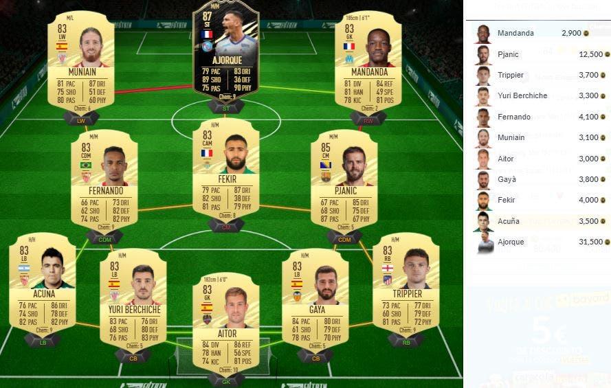 FIFA 21 Ultimate Team SBC Eliasson Jugador de Nación