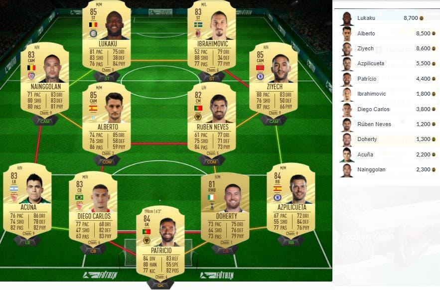 FIFA 21 Ultimate Team SBC Batshuayi Jugador de Nación Bélgica