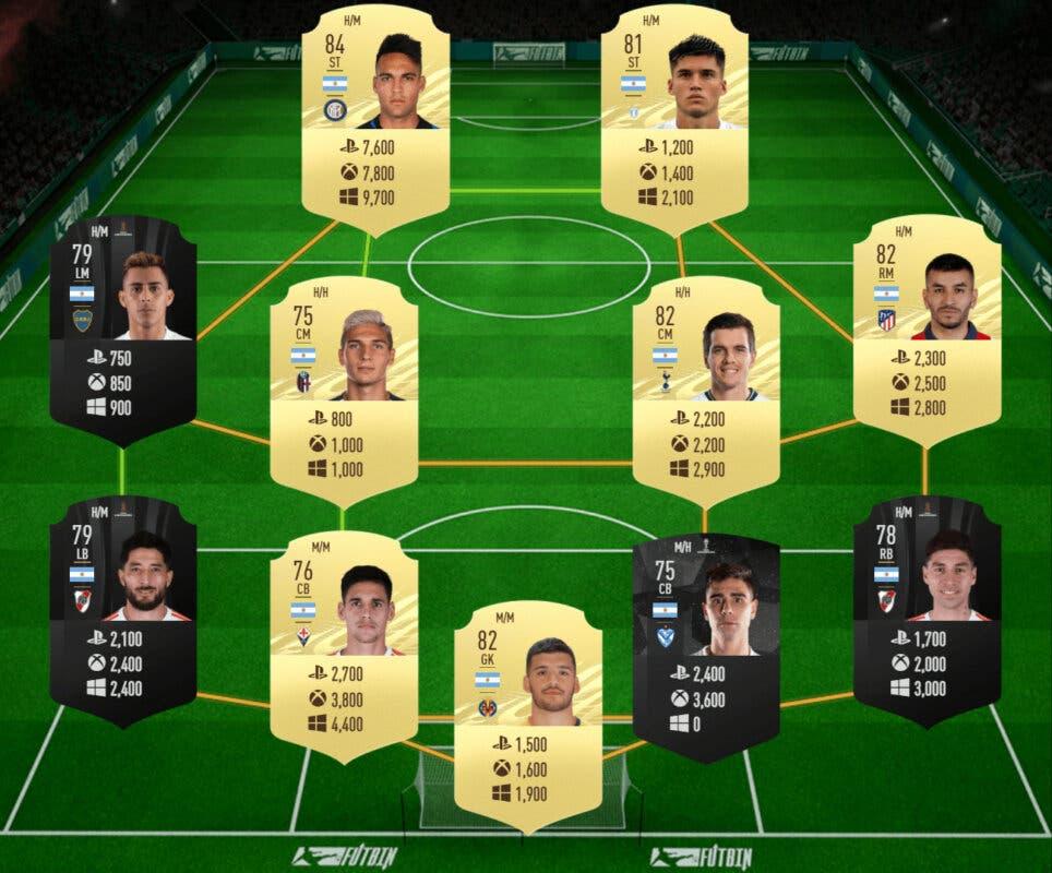 FIFA 21: las mejores plantillas de muy bajo precio para el nuevo torneo de Ultimate Team. Equipo Argentina barato precio