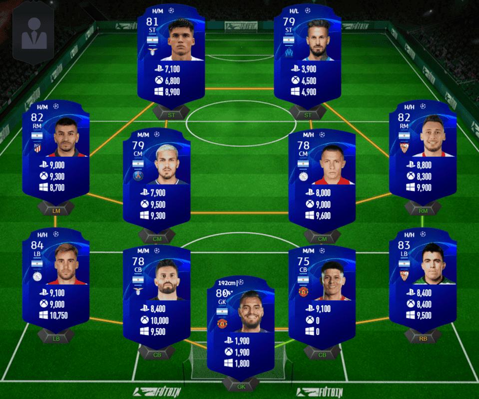 FIFA 21 Ultimate Team Icon Swaps consigue los tokens offline de la tercera tanda en la mitad de tiempo. Argentina UCL precio