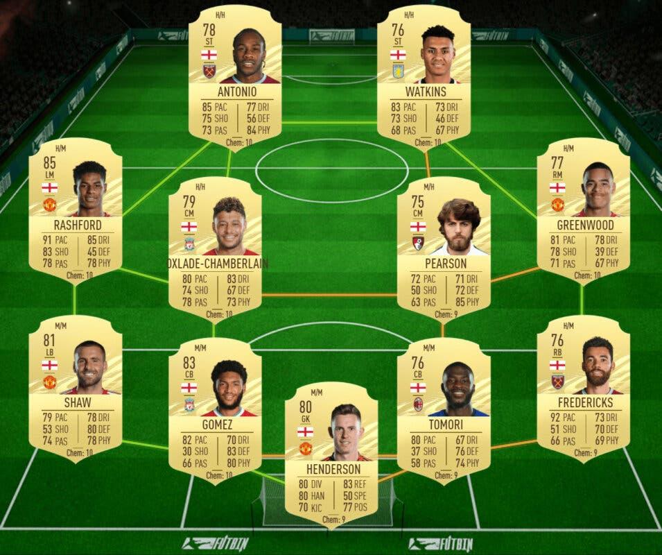 FIFA 21: las mejores plantillas baratas para ganar el nuevo torneo y conseguir el Megasobre Único gratuito Ultimate Team plantilla Inglaterra