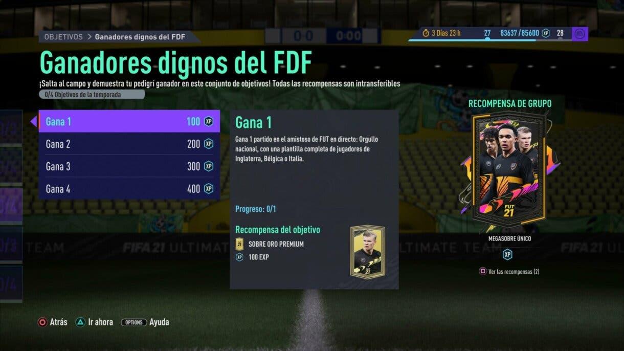 FIFA 21 Ultimate Team: Este torneo nos permite conseguir nuevos sobres gratuitos Ganadores dignos del FDF